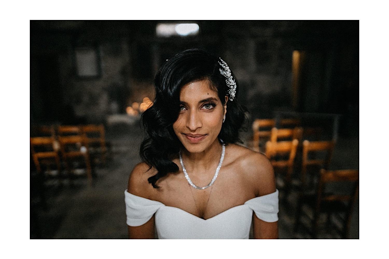 indian bride green eyes