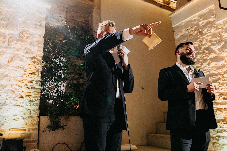 raise toast at wedding