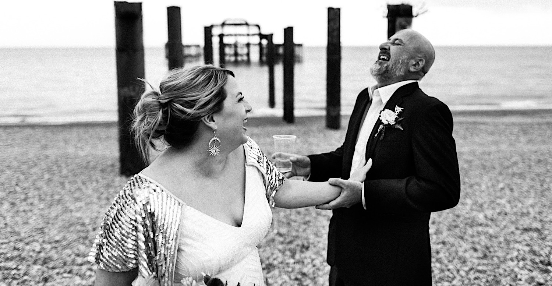 brighton west pier wedding photos