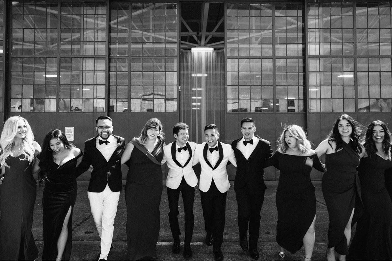 uk warehouse hangar wedding