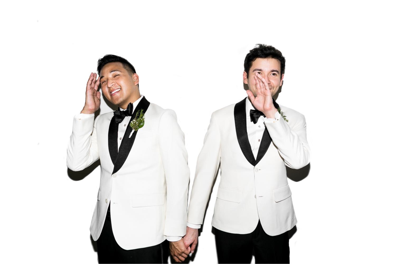 white tux gay wedding uk lgbtq