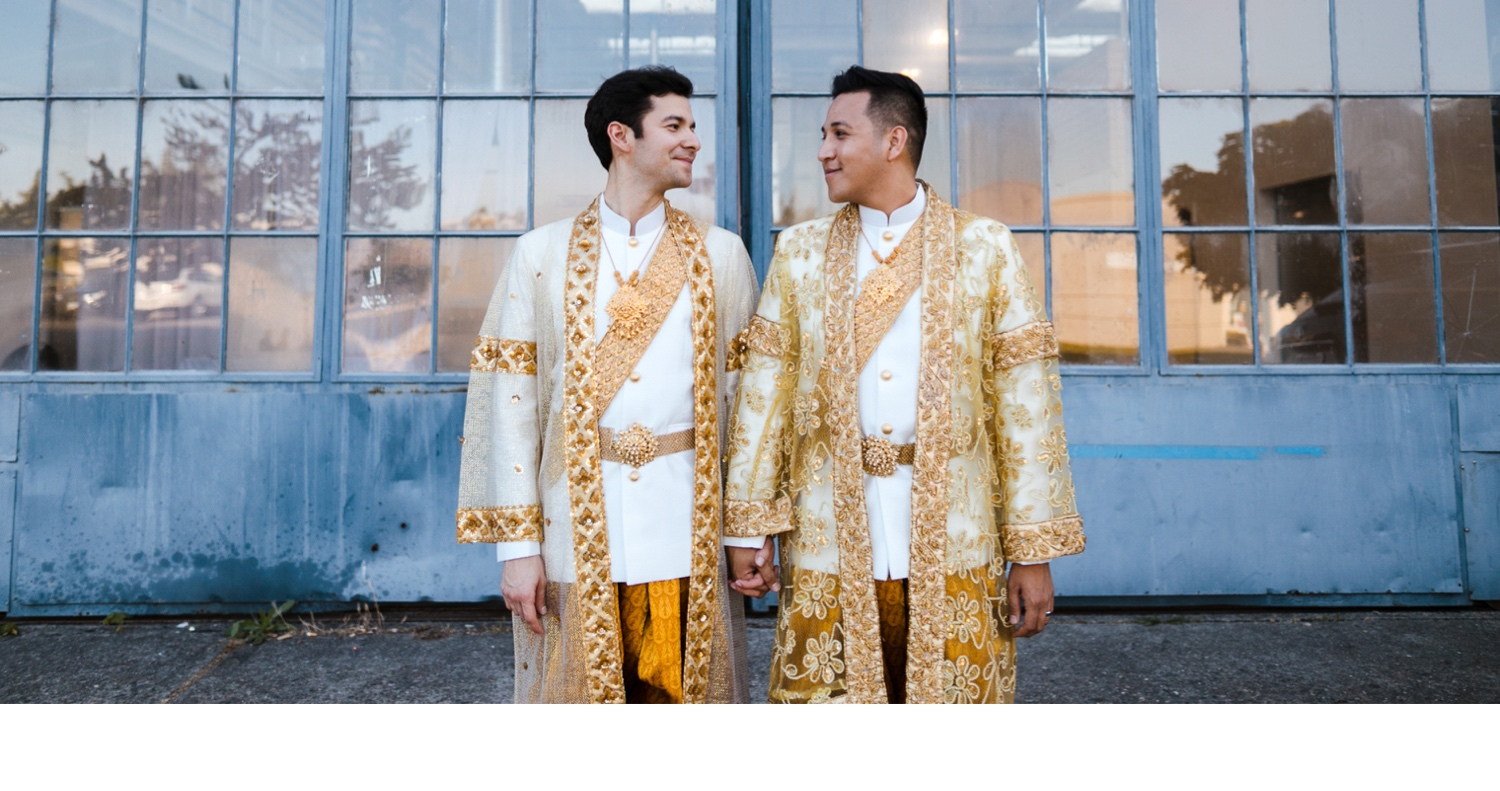 gold cambodian kmer wedding outfit