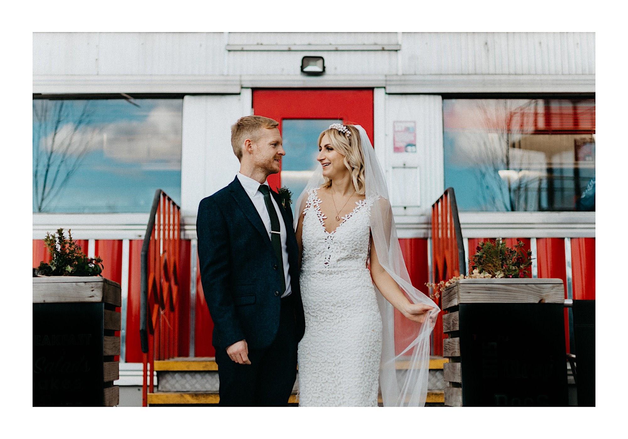 wedding photography at trinity buoy wharf diner